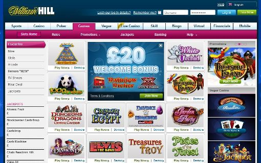 William Hill slot games